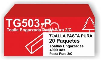 Toalla Nuevo Gofrado Plegado V 20x20 c/4000