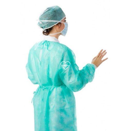 bata de proteccion verde en pp con cierre dorsal ibp 0502030 caja 100 unidades result